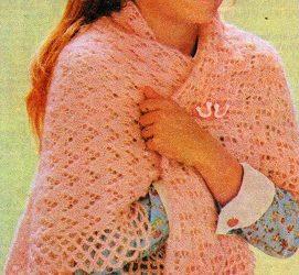 Dívčí krajkový šátek
